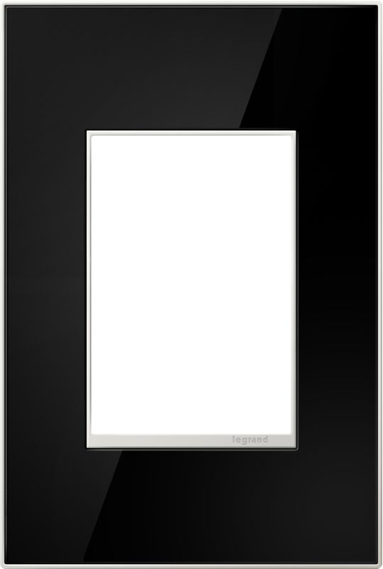 Legrand AWM1G3MB4 adorne 1 Gang Glass Wall Plate - 4.56 Inches Wide