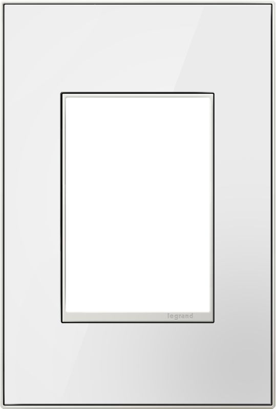 Legrand AWM1G3MW4 adorne 1 Gang Glass Wall Plate - 4.56 Inches Wide