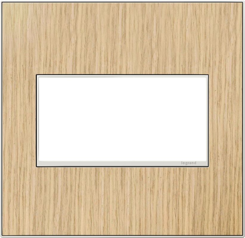 Legrand AWM2GFH4 adorne 2 Gang Wood Wall Plate - 6.56 Inches Wide