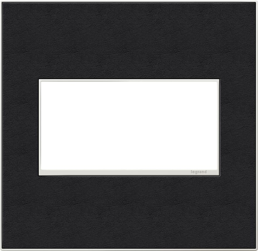 Legrand AWM2GLE4 adorne 2 Gang Leather Wall Plate - 6.56 Inches Wide
