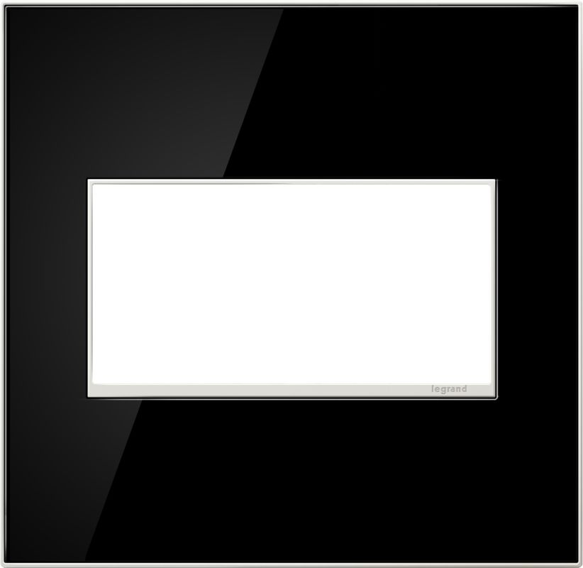 Legrand AWM2GMB4 adorne 2 Gang Glass Wall Plate - 6.56 Inches Wide