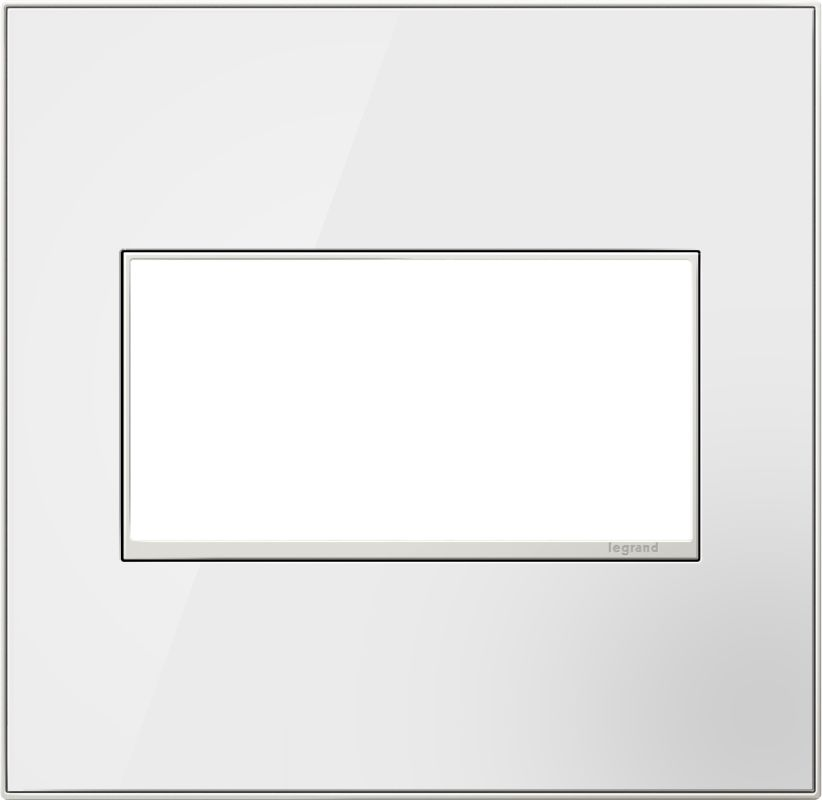 Legrand AWM2GMWW4 adorne 2 Gang Glass Wall Plate - 6.9 Inches Wide