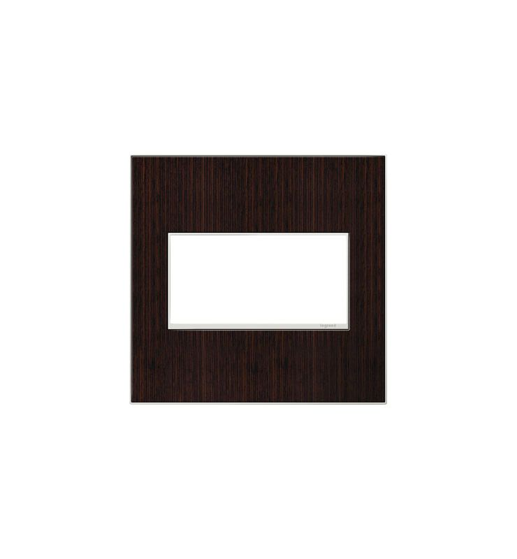 Legrand AWM2GWE4 adorne 2 Gang Wood Wall Plate - 6.56 Inches Wide
