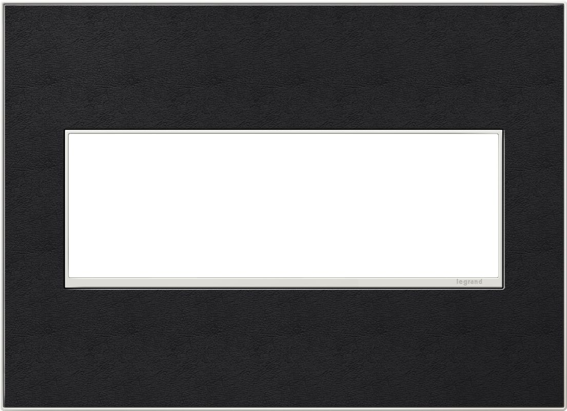 Legrand AWM3GLE4 adorne 3 Gang Leather Wall Plate - 6.56 Inches Wide