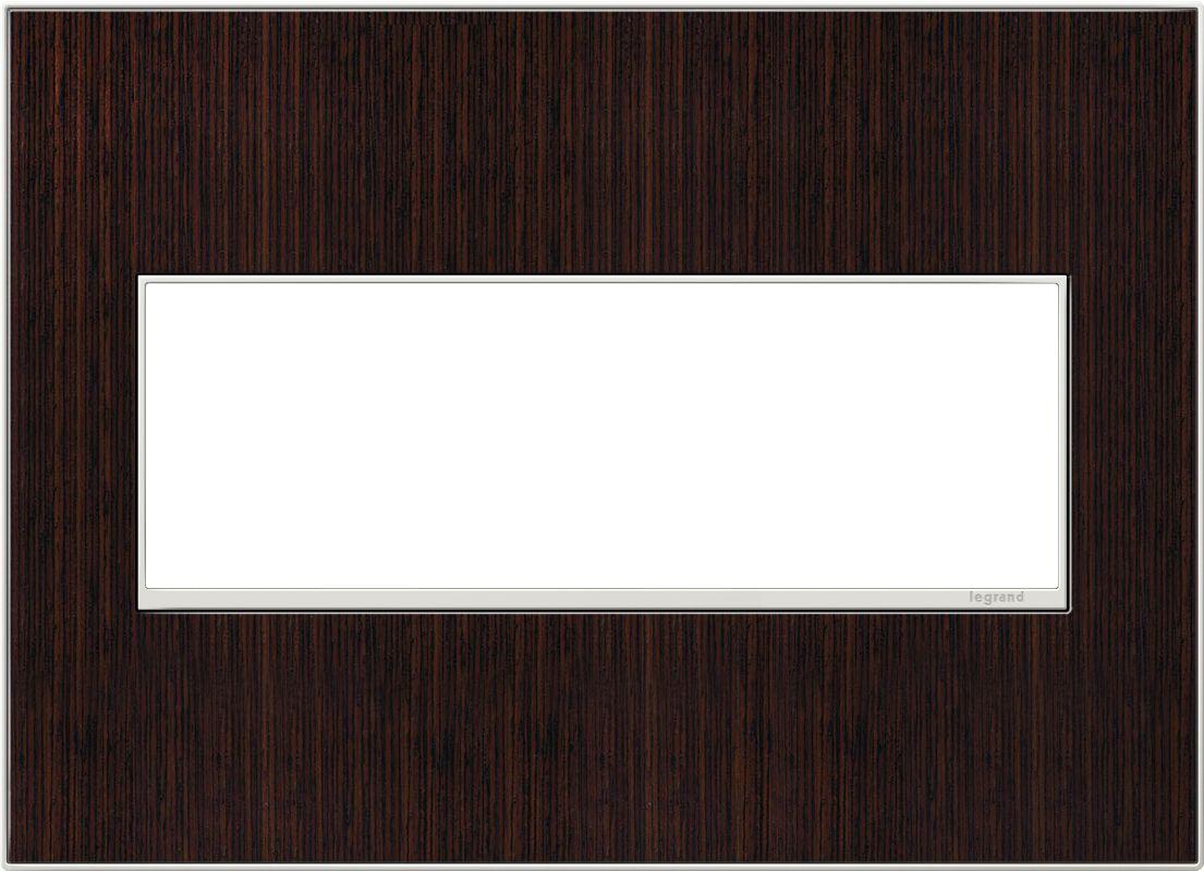Legrand AWM3GWE4 adorne 3 Gang Wood Wall Plate - 6.56 Inches Wide