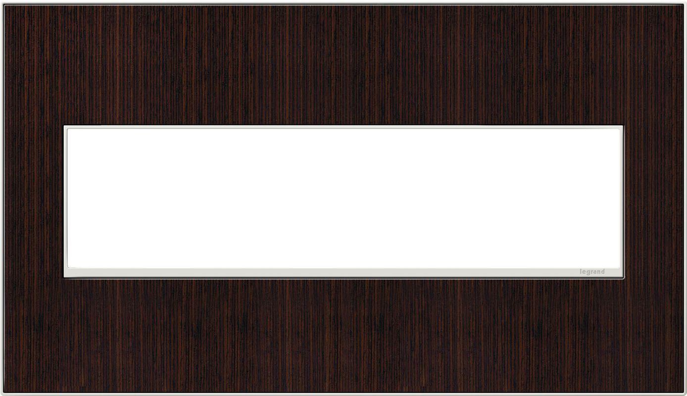Legrand AWM4GWE4 adorne 4 Gang Wood Wall Plate - 6.56 Inches Wide
