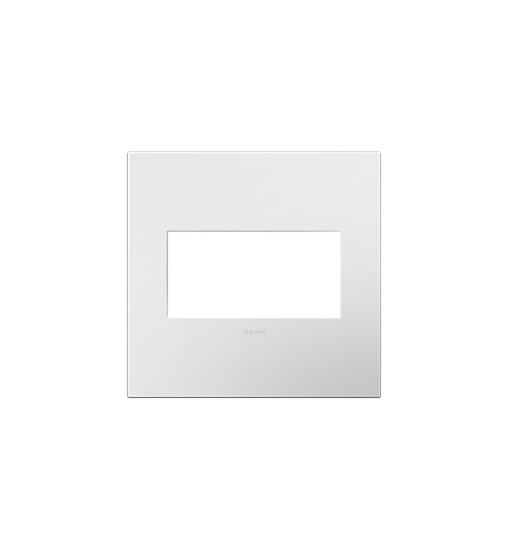 Legrand AWP2GWH4 adorne 2 Gang Plastic Wall Plate - 5.29 Inches Wide