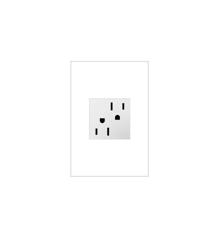 Legrand ARTR1524 Adorne Double 15 Amp Tamper Resistant Outlet White