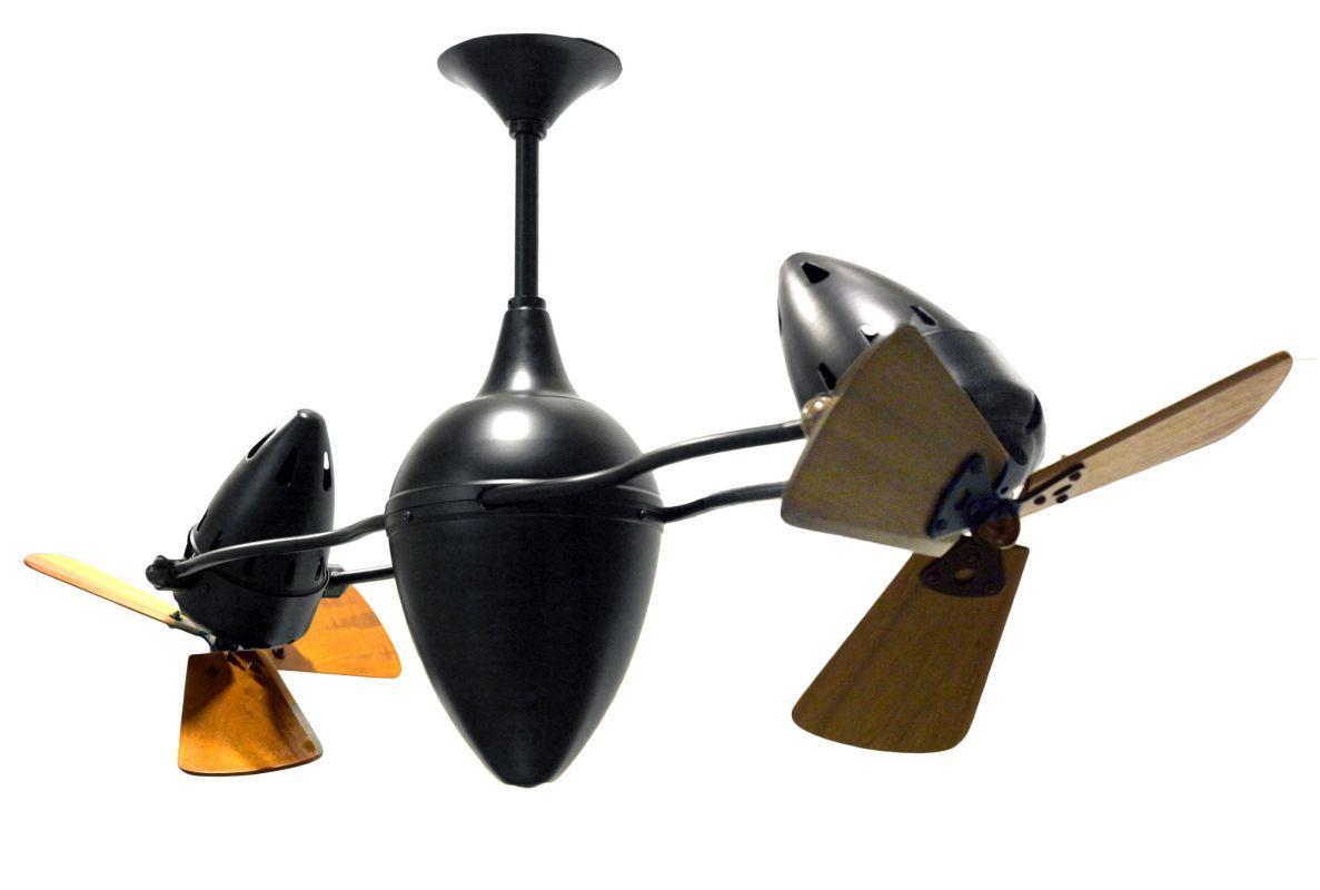"""Matthews Fan Company AR-WD Ar Ruthiane 48"""" Dual Rotational Ceiling Fan Sale $2064.00 ITEM#: 1339486 MODEL# :AR-BK-WD :"""