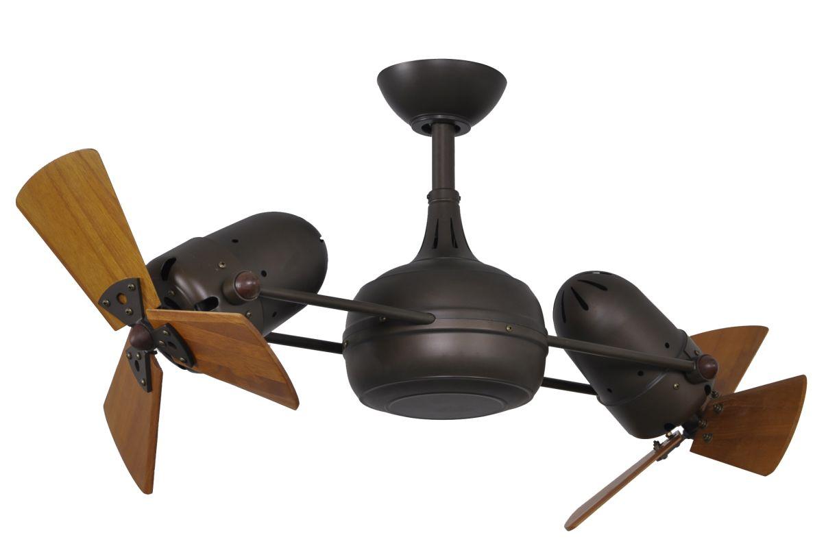 """Matthews Fan Company DG-TB-WD Dagny 41"""" Rotational Ceiling Fan -"""