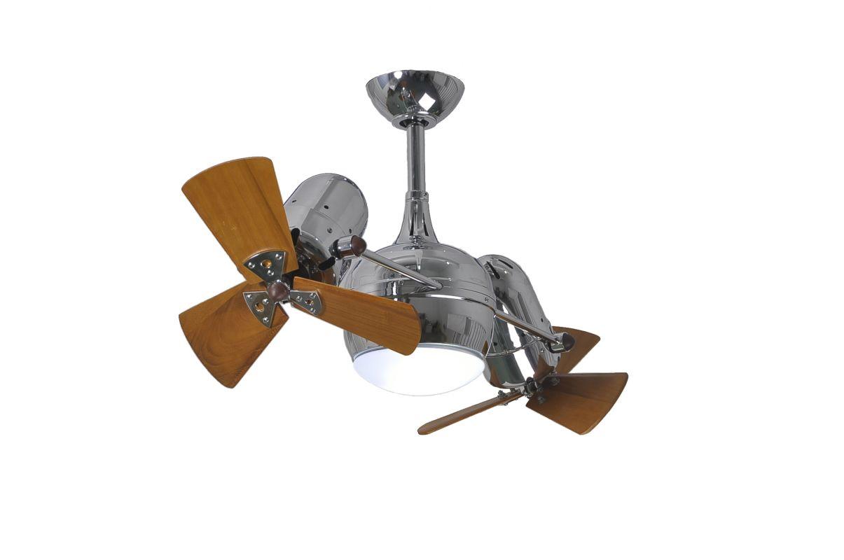 """Matthews Fan Company DGLK-CR-WD Dagny 41"""" Rotational Ceiling Fan with"""