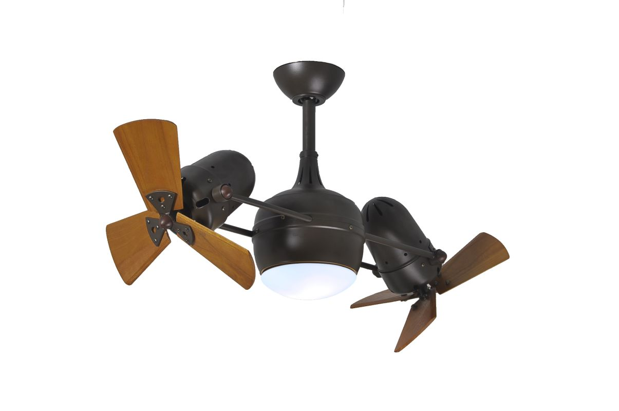 "Matthews Fan Company DGLK-WD Dagny 41"" Rotational Ceiling Fan with"