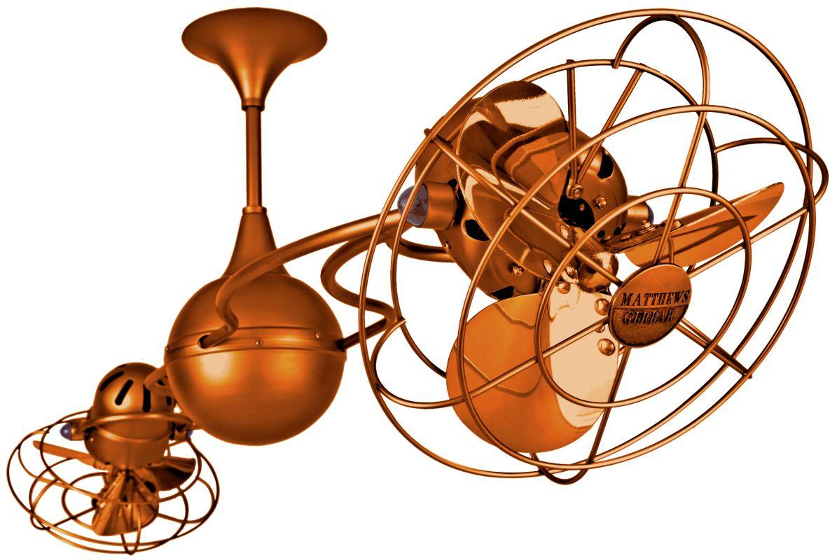 """Matthews Fan Company IV-MTL Italo Ventania 60"""" Rotational Ceiling Fan"""
