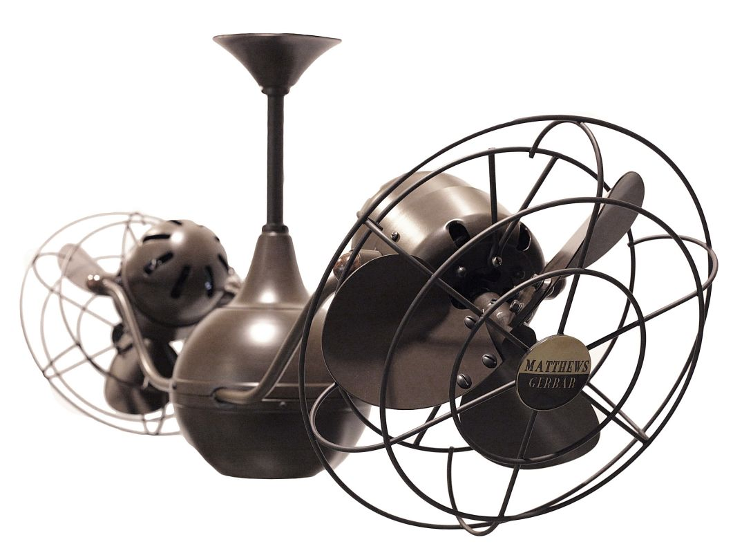 "Matthews Fan Company VB-MTL Vent Bettina 42"" Rotational Ceiling Fan -"