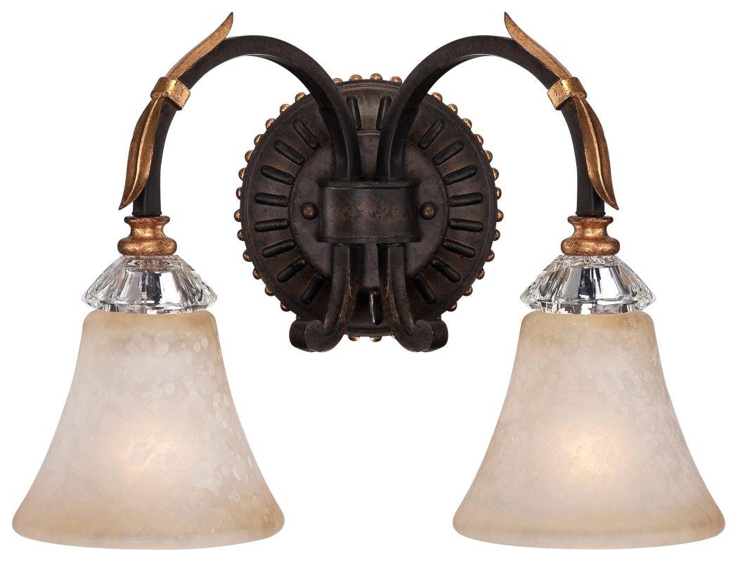 """Metropolitan N2692-258B 2 Light 15.5"""" Width Bathroom Vanity Light from Sale $264.95 ITEM#: 2224876 MODEL# :N2692-258B UPC#: 840254041783 :"""