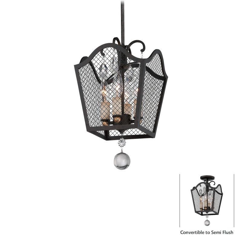 Metropolitan N7104 4 Light Single Mini Pendant from the Cortona