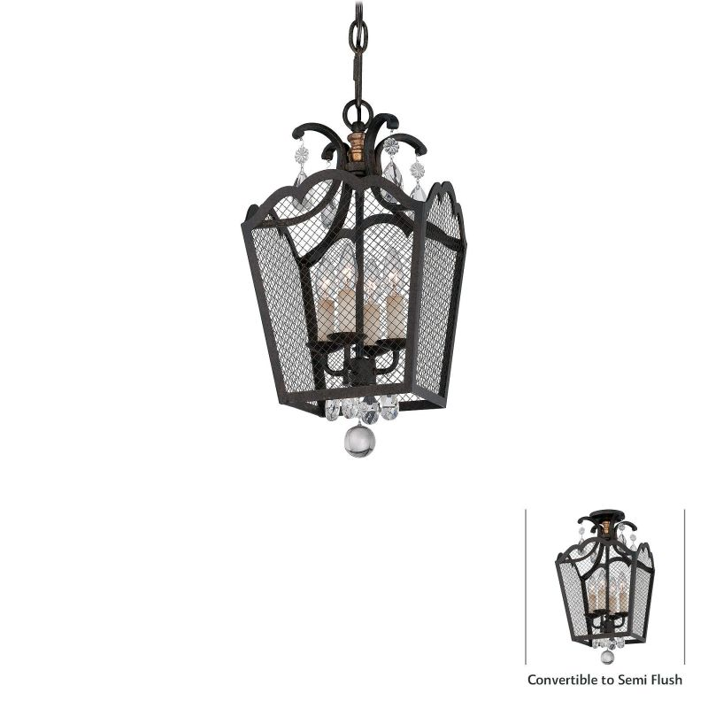 Metropolitan N7106 4 Light Full Sized Single Pendant from the Cortona