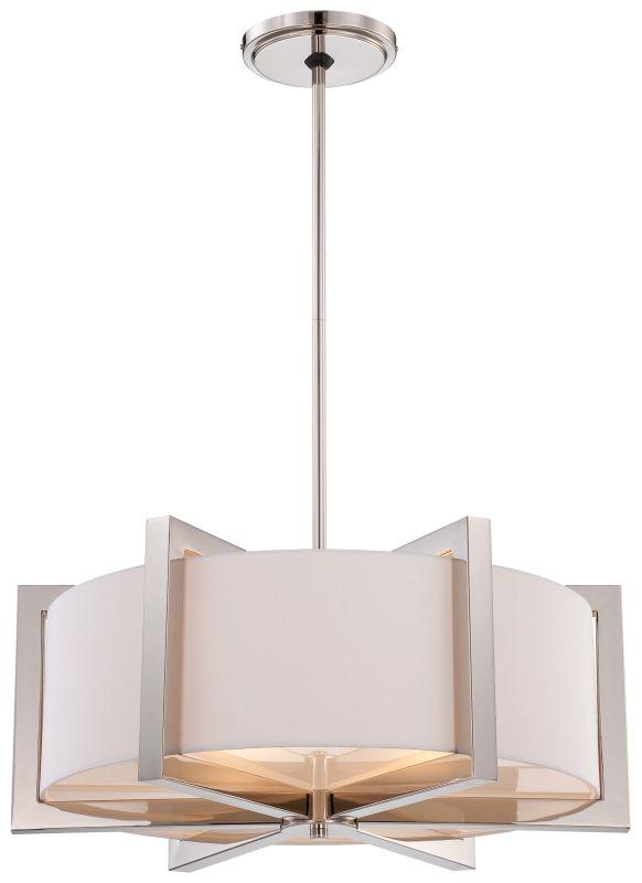 Metropolitan N6263-613 4 Light Drum Pendant in Polished Nickel from