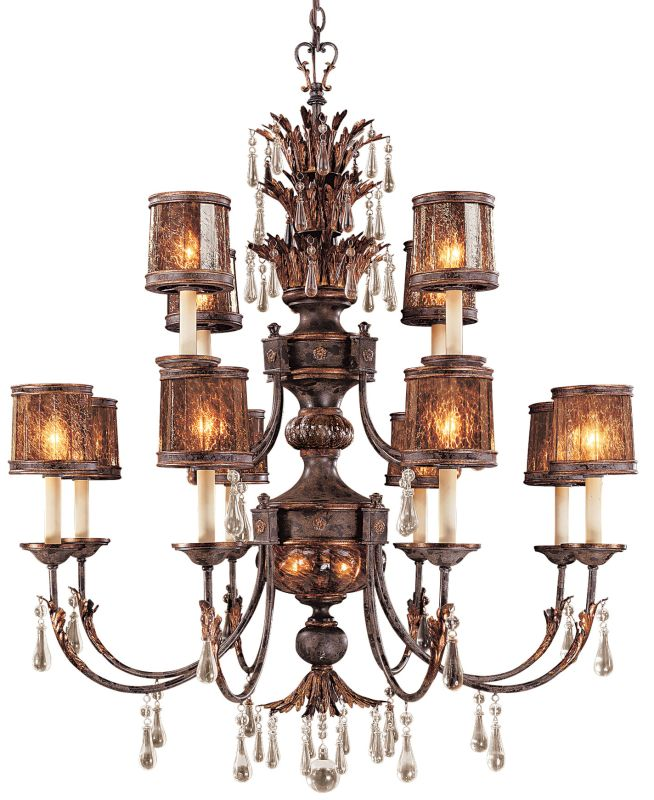 Metropolitan N6079 14 Light 2 Tier Candle Style Crystal Chandelier