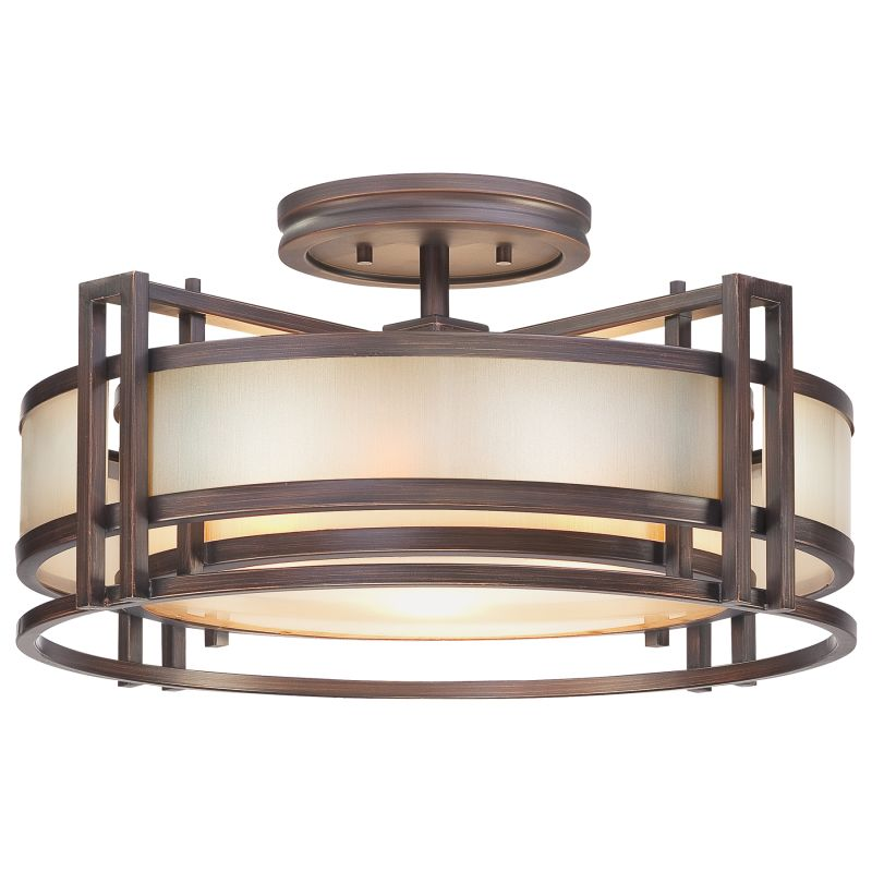 Metropolitan N6964 3 Light Semi-Flush Ceiling Fixture from the