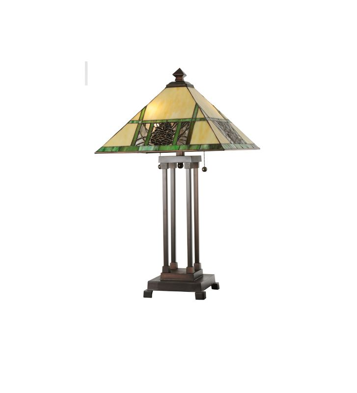 Meyda Tiffany 103380 Two Light Up Lighting Table Lamp from the Sale $387.00 ITEM#: 877279 MODEL# :103380 :