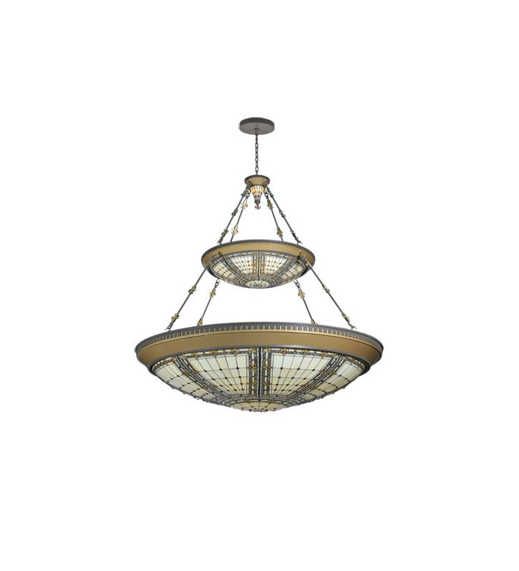 Meyda Tiffany 104487 Tiffany Ten Light Down Lighting Two Tier
