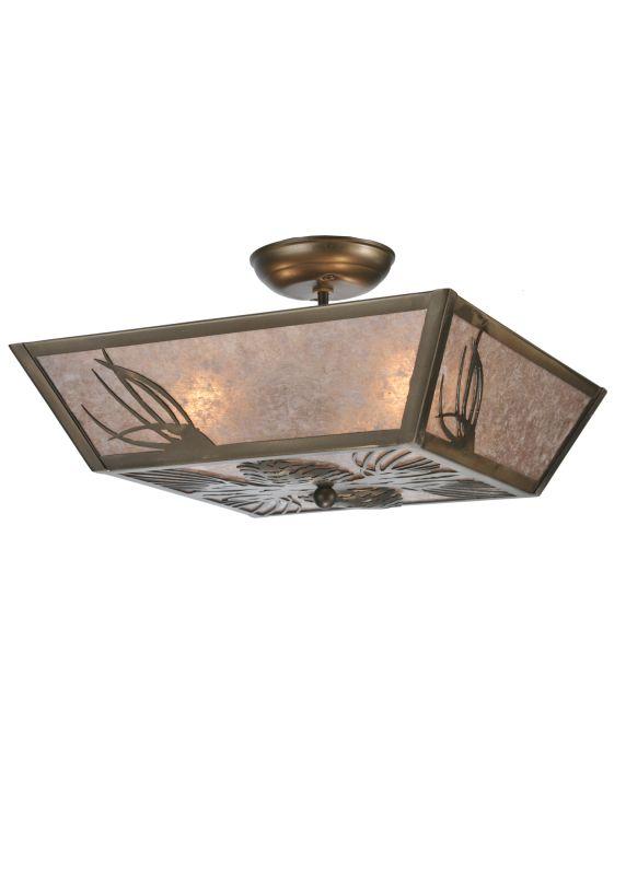 Meyda Tiffany 106774 Three Light Down Lighting Semi Flush Ceiling