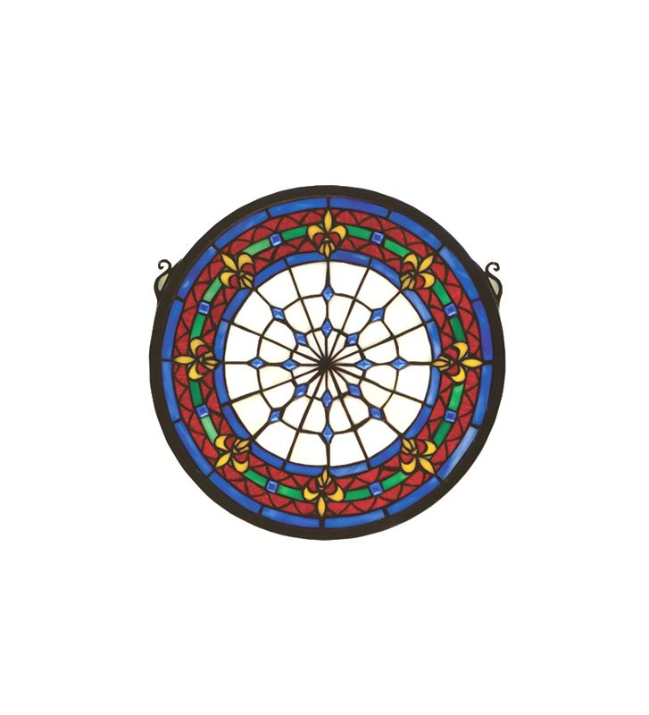 Meyda Tiffany 51810 Tiffany Stained Glass Medallion Window Pane from