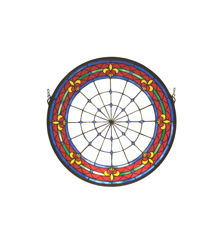 Meyda Tiffany 51811 Tiffany Medallion Stained Glass Window from the