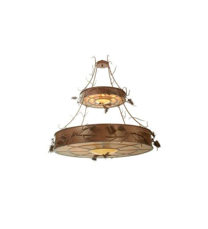 Meyda Tiffany 79713 Twelve Light Down Lighting Two Tier Chandelier