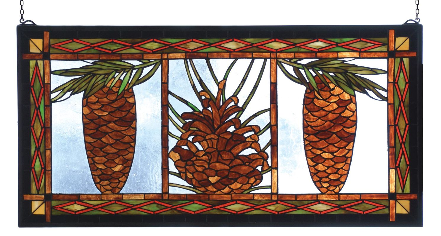 Meyda Tiffany 81470 Stained Glass Tiffany Window from the Pinecones