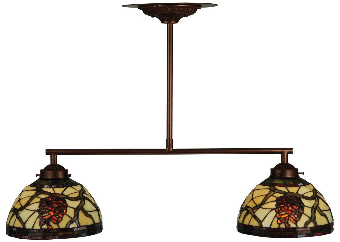 "Meyda Tiffany 123357 27"" L Pinecone Dome 2 Light Island Chandelier"