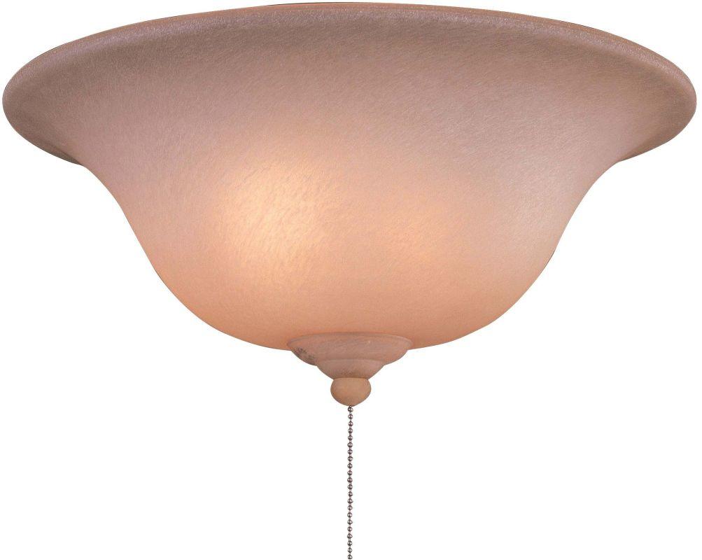 MinkaAire MA K9376-1 3 Light Fan Light Kit with Caspian Glass Caspian