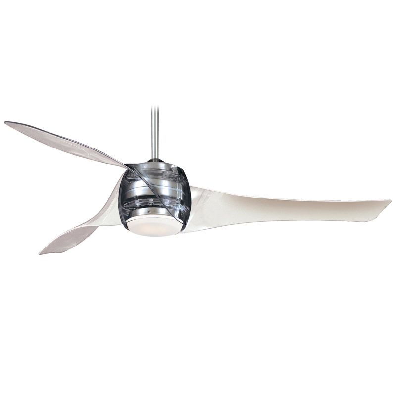"MinkaAire Artemis 3 Blade 58"" Ceiling Fan - Light Wall Control and"
