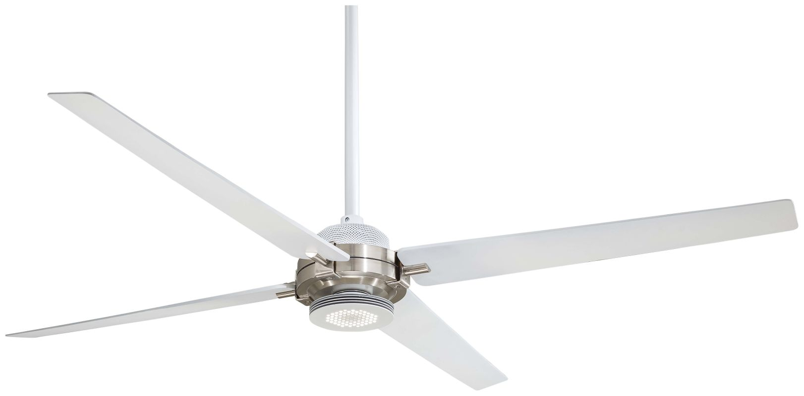 "MinkaAire Spectre 60"" 4 Blade Indoor Ceiling Fan with Integrated LED Sale $519.95 ITEM#: 2803186 MODEL# :F726-WHF/BN UPC#: 706411052606 :"