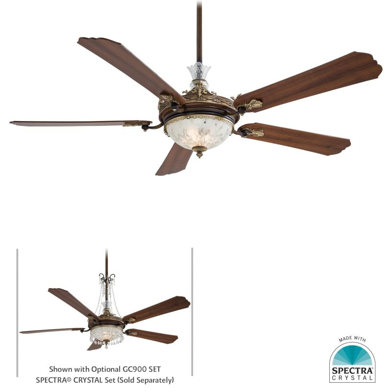 "MinkaAire Cristafano 5 Blade 68"" Ceiling Fan - Light Wall Control and"