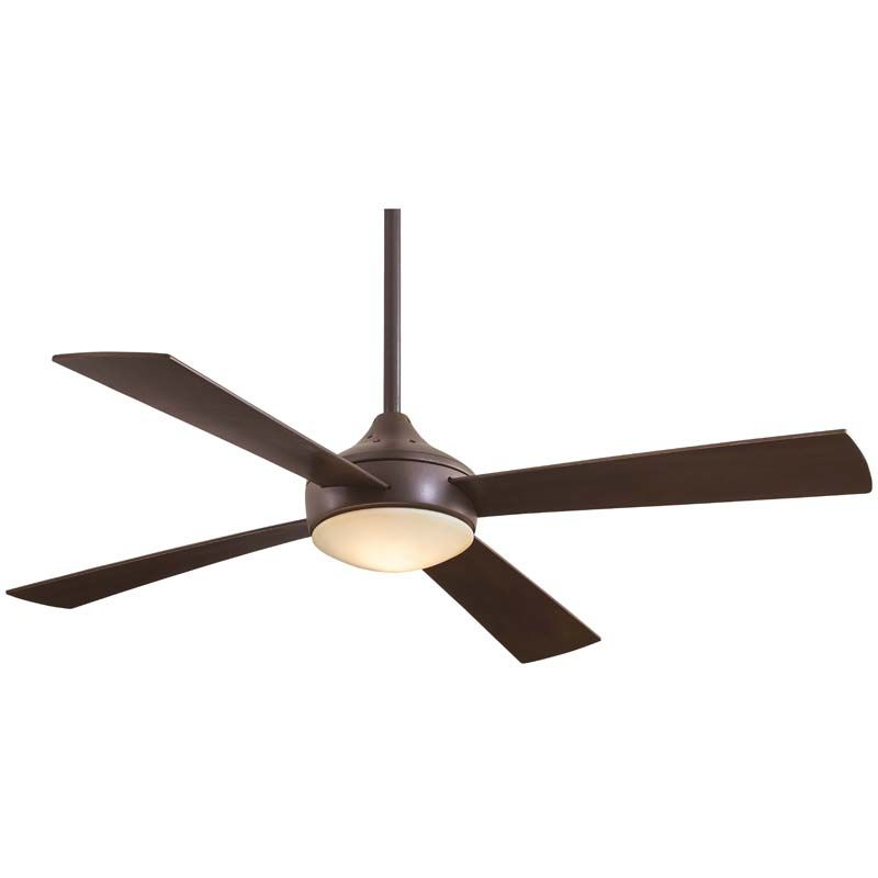 "MinkaAire Aluma 4 Blade 52"" Ceiling Fan with Blades and Integrated 1"