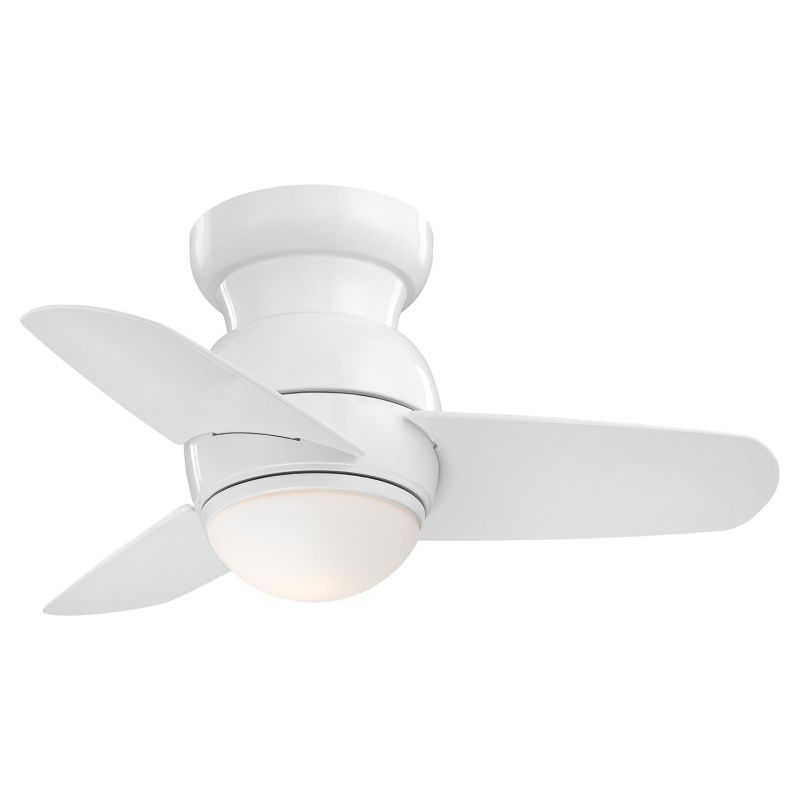 "MinkaAire Spacesaver 3 Blade 26"" Flush Mount Ceiling Fan with Blades"