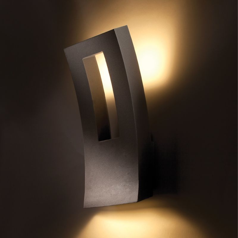 "Modern Forms WS-W2216 Dawn 16"" Indoor/Outdoor Dimmable LED Wall Light Sale $299.00 ITEM#: 2274848 MODEL# :WS-W2216-BZ UPC#: 790576248936 :"