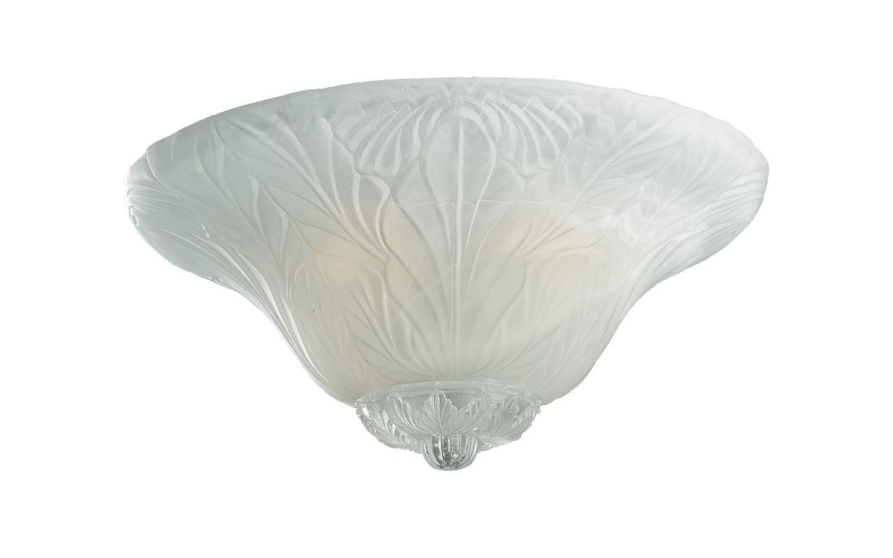 Monte Carlo MC172-L Leaf Bowl Light Kit in White Faux Alabaster White
