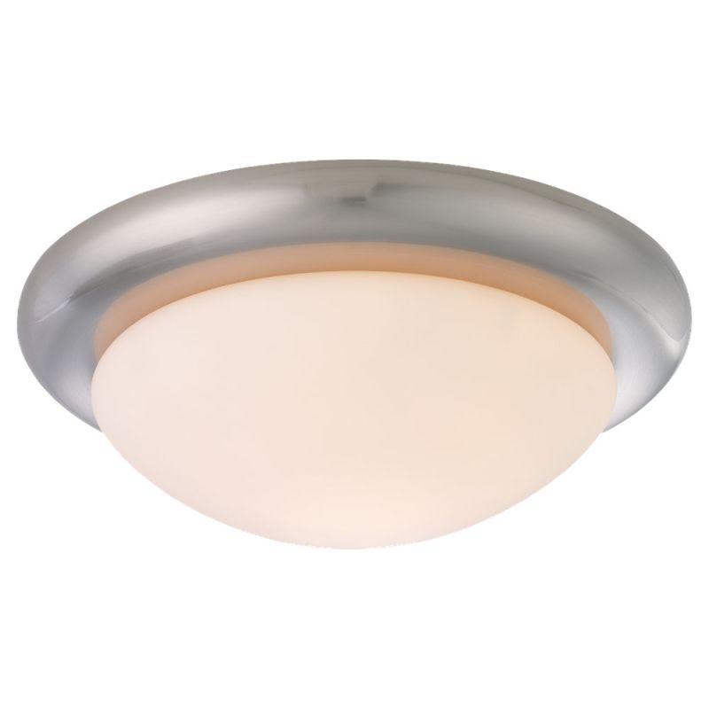 Monte Carlo MC18 Matte Opal Disk Light Kit Brushed Steel / Matte Opal