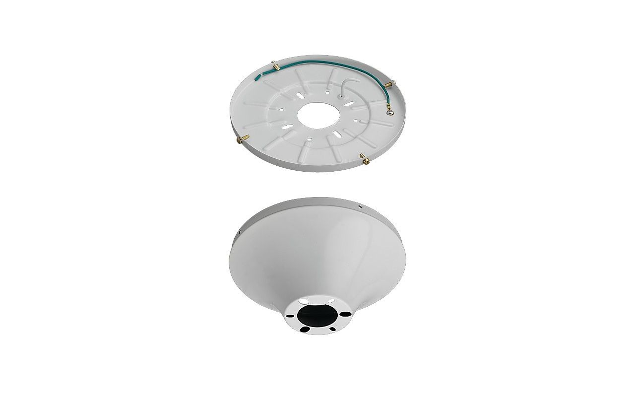 Monte Carlo MC192 Wet Rated Heavy Duty Flush Mount Canopy White