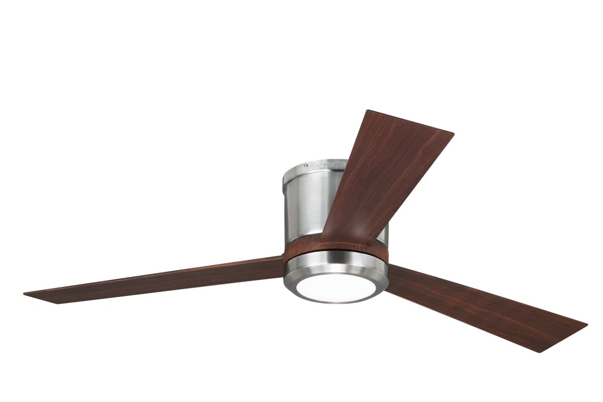"Monte Carlo Clarity 3 Bladed 52"" Indoor Ceiling Fan - LED Light Kit"