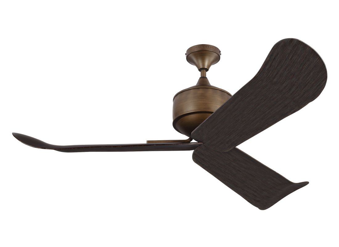 "Monte Carlo Dylan 3 Blade 56"" Outdoor Ceiling Fan - Remote Included"