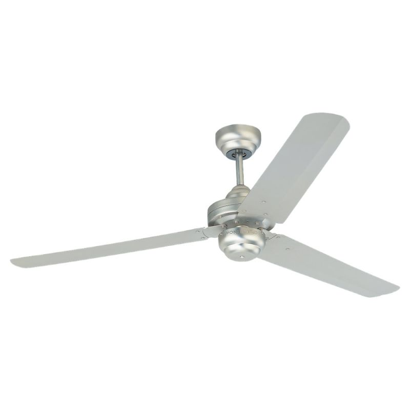 "Monte Carlo Studio 54"" Three Blade Fan Brushed Pewter Fans Indoor"