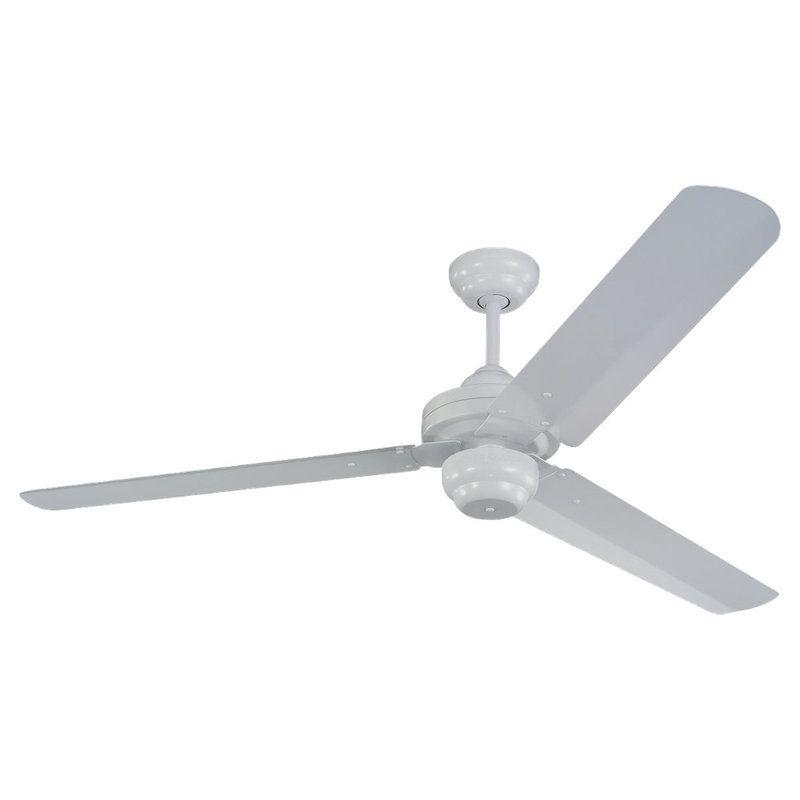 "Monte Carlo Studio 54"" Three Blade Fan White Fans Indoor Ceiling Fans"