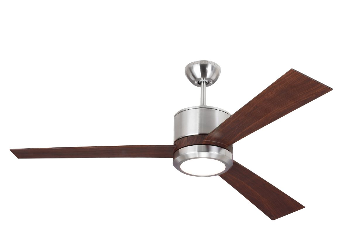 "Monte Carlo Vision 3 Bladed 52"" Indoor Ceiling Fan - LED Light Kit and"