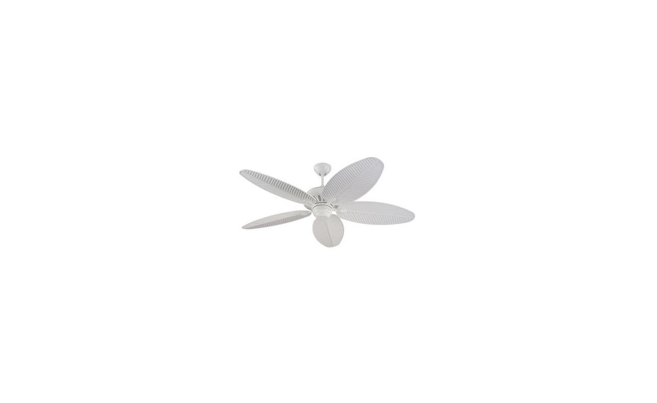 "Monte Carlo Cruise 52"" Wet Rated Outdoor Ceiling Fan White Fans"