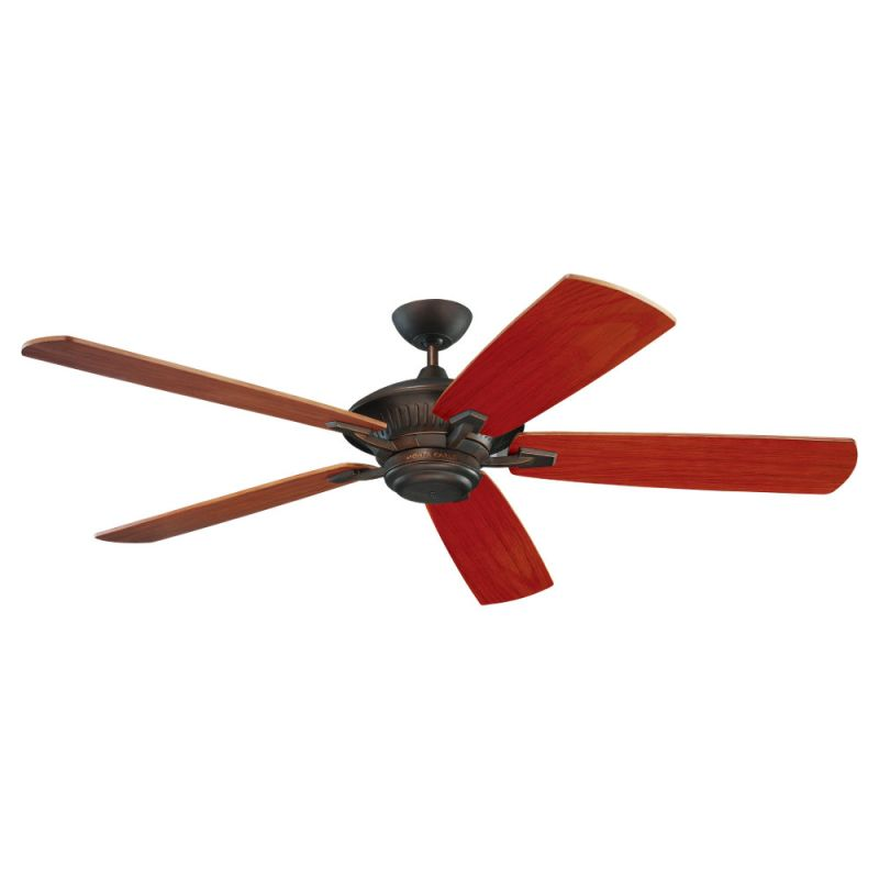 "Monte Carlo Cyclone 60"" Wet Rated Outdoor Fan Roman Bronze Fans"