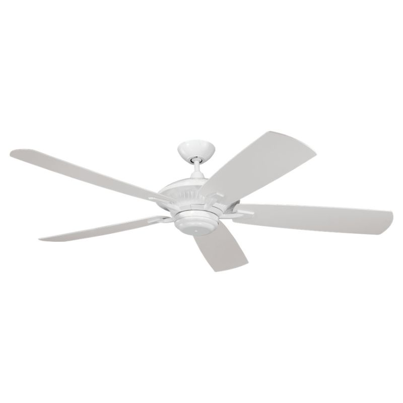 "Monte Carlo Cyclone 60"" Wet Rated Outdoor Fan White Fans Outdoor"